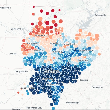 thumbnail preview of metro Atlanta election map